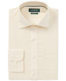 Lauren Ralph Lauren Men's Classic/Regular Fit Non-Iron Plaid Dress Shirt