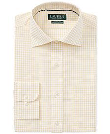 Lauren Ralph Lauren Men's Classic/Regular Fit Non-Iron Plaid Dress Shirt