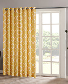 "Madison Park Saratoga 100"" x 84"" Fretwork-Print Grommet Patio Curtain Panel"