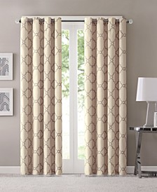 "Saratoga 50"" x 108"" Fretwork-Print Grommet Curtain Panel"
