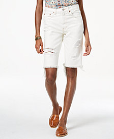Lucky Brand Cotton Denim Bermuda Shorts