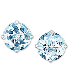Aquamarine Stud Earrings (1-1/2 ct. t.w.) in 14k White Gold