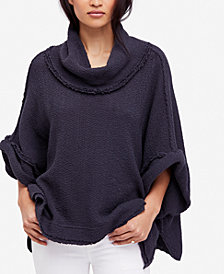 Free People So Comfy Cotton Cowl-Neck Sweater