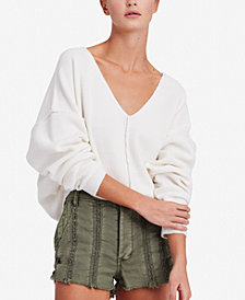 Free People Take Me Places Seamed Oversized Sweater