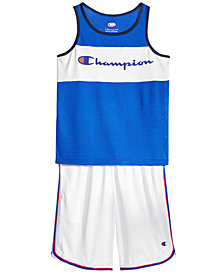 Champion Logo-Print Mesh Tank Top & Shorts, Big Boys