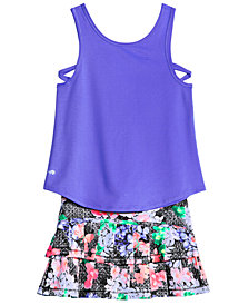 Ideology Criss-Cross Tank & Printed Skort, Big Girls, Created for Macy's