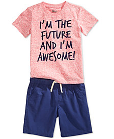 Epic Threads Graphic-Print T-Shirt & Pull-On Shorts Separates, Toddler Boys, Created for Macy's