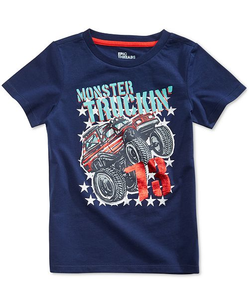 Graphic-Print T-Shirt, Toddler Boys, Created for Macy's