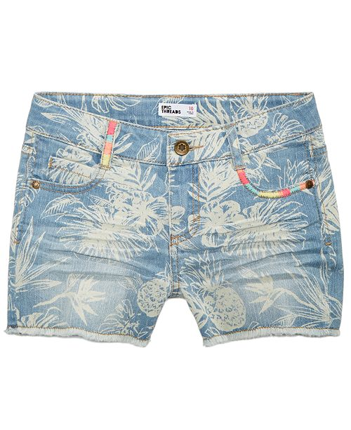 6a76c8f8de8f7 ... Epic Threads Printed Denim Shorts, Big Girls, Created for Macy's ...