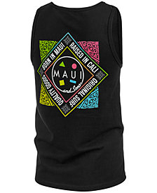 Maui and Sons Men's Four Corners Logo-Print Tank