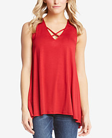 Karen Kane Crisscross High-Low Top
