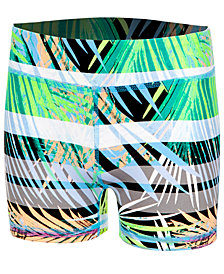 Ideology Palm-Print Compression Shorts, Big Girls, Created for Macy's