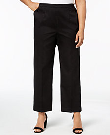 Alfred Dunner Barcelona  Plus Size Pull-On Straight-Leg Pants