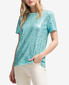 DKNY Sequined T-Shirt, Created for Macy's