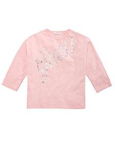 GUESS Big Girls Rhinestone Three-Quarter-Sleeve T-Shirt