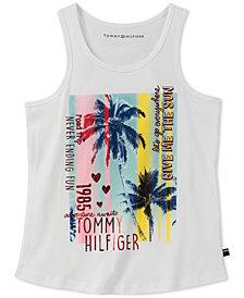 Tommy Hilfiger Graphic-Print Cotton Tank Top, Big Girls