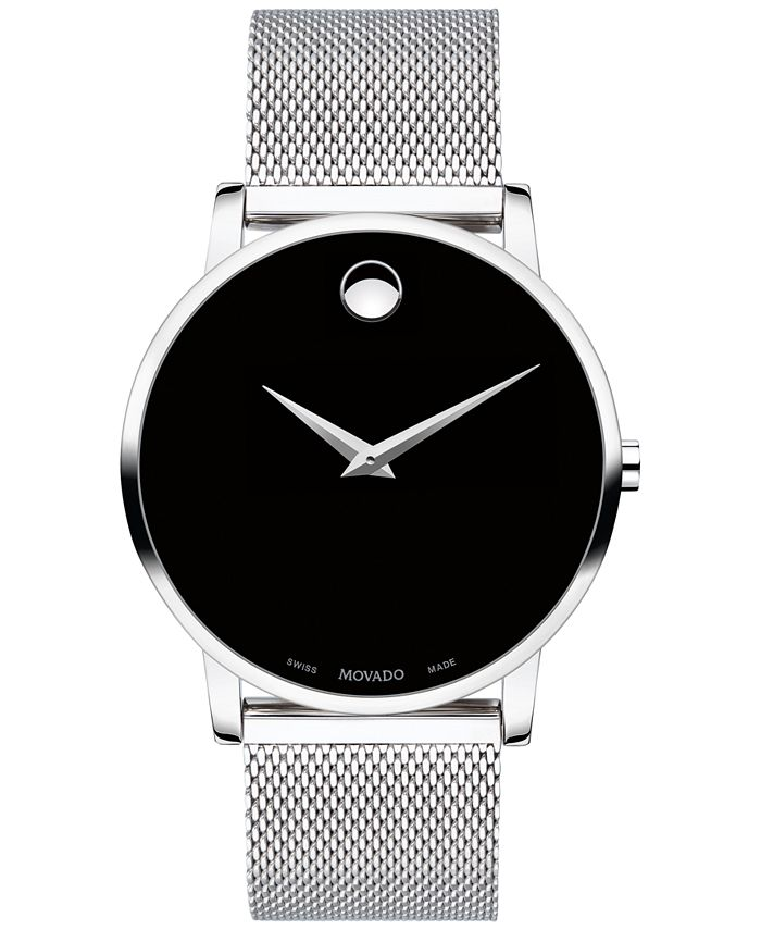 Movado - Unisex Swiss Museum Classic Stainless Steel Mesh Bracelet Watch 40mm