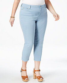 MICHAEL Michael Kors Plus Size Skinny Cropped Jeans