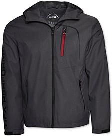 Men's HFX Herringbone Full-Zip Hooded Waterproof Jacket