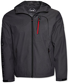 Halifax Men's HFX Herringbone Full-Zip Hooded Waterproof Jacket