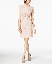 Connected Petite Lace Sheath Dress