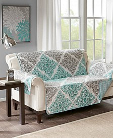 Claire Reversible Printed Loveseat Protector