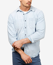 Lucky Brand Men's Reworked Denim Work Shirt