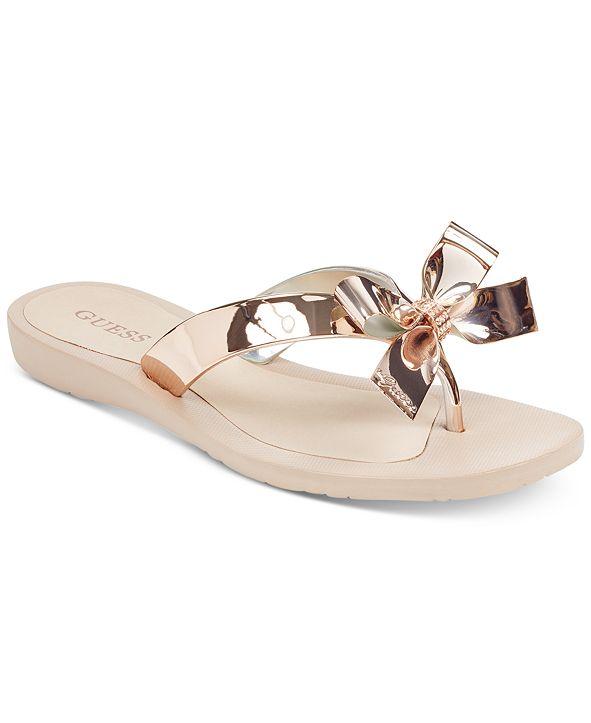 GUESS Tutu Bow Flip Flops