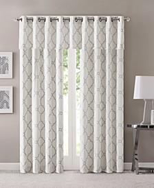 Saratoga Fretwork-Print Grommet Curtain Panel & Valance Collection