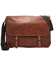 Men's Buckner Leather Messenger Bag