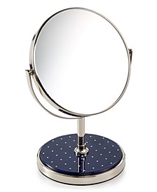 Inset Navy Dot Vanity Mirror