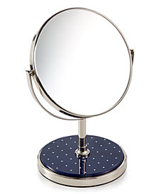 kate spade new york Inset Navy Dot Vanity Mirror