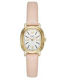 kate spade new york Women's Staten Nude Leather Strap Watch 25mm