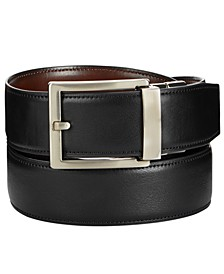 Men's Reversible Faux-Leather Compression Belt, Created for Macy's