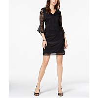 Alfani Bell-Sleeve Lace Shift Dress Deals