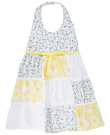 Blueberi Boulevard Baby Girls Patchwork Halter Dress