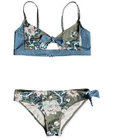 Roxy Big Girls 2-Pc. Floral-Print Bikini Swim Suit