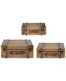 Madison Park Signature Chatham Vintage Wood Trunk Set of 3