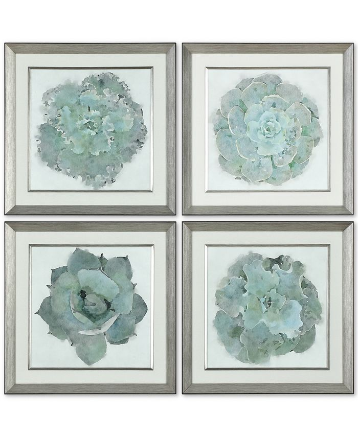 Uttermost - Natural Beauties 4-Pc. Botanical Print Wall Art Set