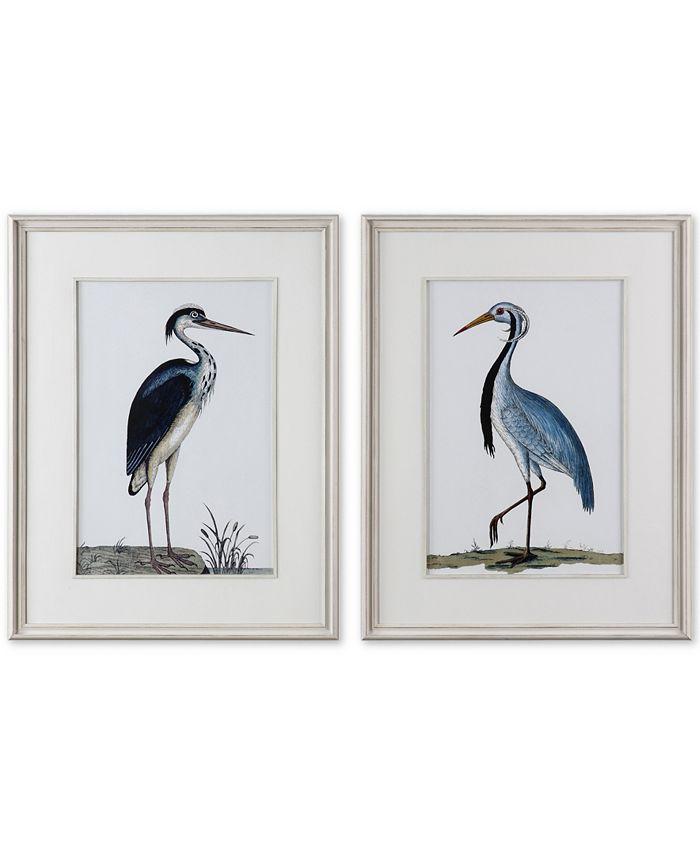 Uttermost - Shore Birds 2-Pc. Framed Printed Wall Art Set