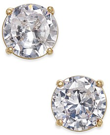 Gold-Tone Crystal Stud Earrings, Created for Macy's