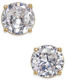 Charter Club Gold-Tone Crystal Stud Earrings, Created for Macy's