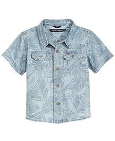 Tommy Hilfiger Baby Boys Palm-Print Cotton Denim Shirt