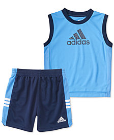 adidas Baby Boys 2-Pc. Basketball Tank Top & Shorts Set