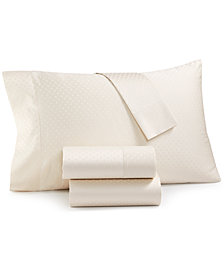 CLOSEOUT! Agusta Dobby 600 Thread Count 4-Pc. Queen Sheet Set