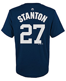 Majestic Giancarlo Stanton New York Yankees Official Player T-Shirt, Little Boys (4-7)