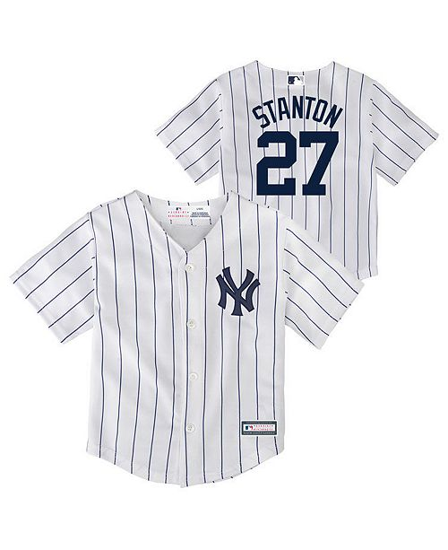 fc11d1529 Majestic Giancarlo Stanton New York Yankees Player Replica Cool Base Jersey