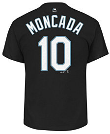 Majestic Men's Yoan Moncada Chicago White Sox Official Player T-Shirt