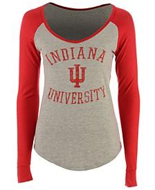 Women's Indiana Hoosiers Raglan Long Sleeve T-Shirt