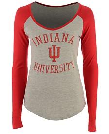 Retro Brand Women's Indiana Hoosiers Raglan Long Sleeve T-Shirt